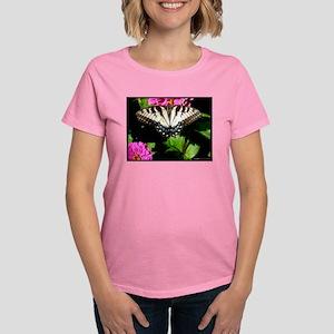 Swallowtail Butterfly and Zinnias T-Shirt