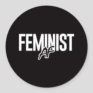 Feminist AF Round Car Magnet