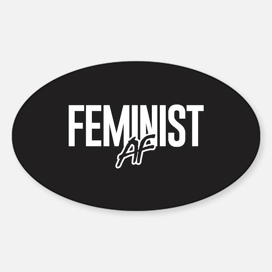 Feminist AF Sticker (Oval)