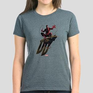 Daredevil Gargoyle Initials Women's Dark T-Shirt