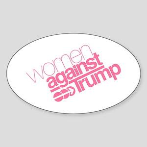 Women Against Trump Sticker (Oval)