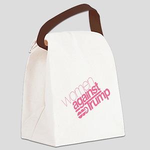 Women Against Trump Canvas Lunch Bag
