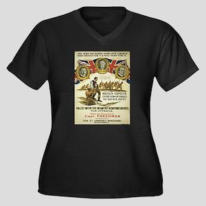 Vintage poster - British Recruit Plus Size T-Shirt