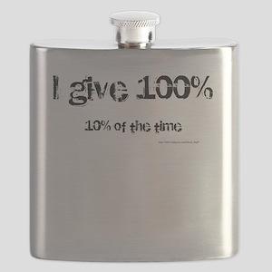 I Give 100% Flask
