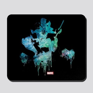 Daredevil Teal Paint Drip Mousepad