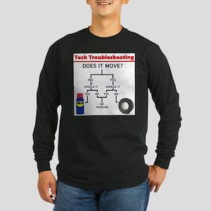 Tech Troubleshooting Flowchart Long Sleeve T-Shirt