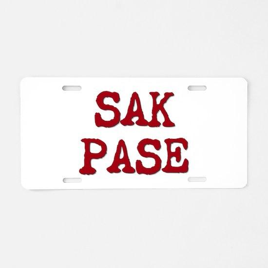 Sak Pase Aluminum License Plate