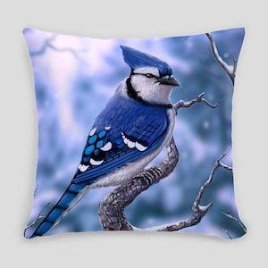 Blue jay Everyday Pillow