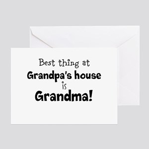 Grandpas House Greeting Cards