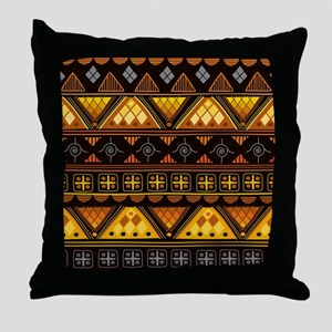 Boho Triangle Pattern v. 3 Throw Pillow