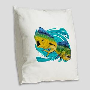 TRACKING Burlap Throw Pillow