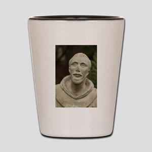 Saint Francis of Assisi statue in garde Shot Glass