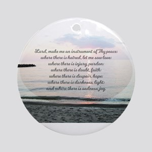 Prayer of St. Franics Round Ornament