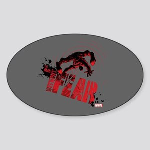 Daredevil Man Without Fear Red Sticker (Oval)