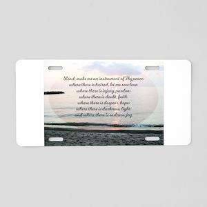 Prayer of St. Franics Aluminum License Plate