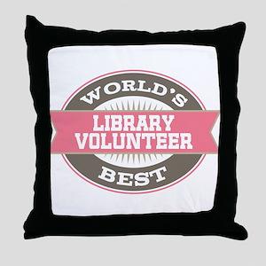 library volunteer Throw Pillow