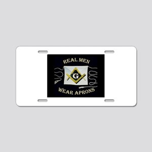 Masonic Apron Aluminum License Plate