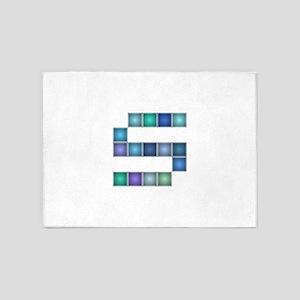 """Letter """"S"""" (Pixels) 5'x7'Area Rug"""