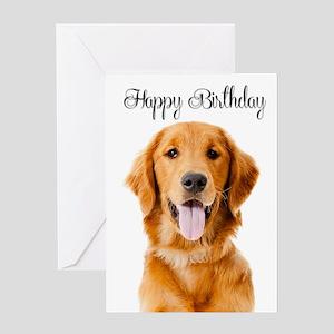 Birthday Golden Greeting Cards