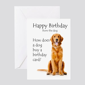 Funny Birthday Golden Greeting Cards