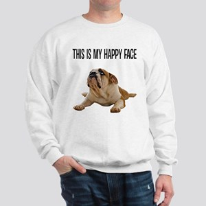 Happy Face Bulldog Sweatshirt