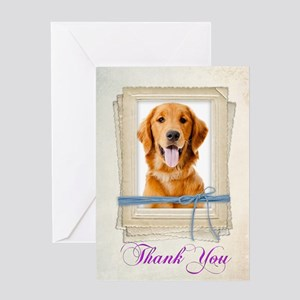 Golden Thank You Greeting Cards