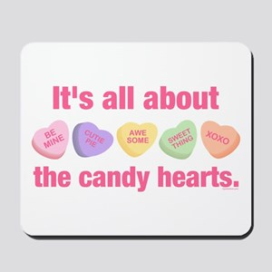 Candy Hearts II Mousepad