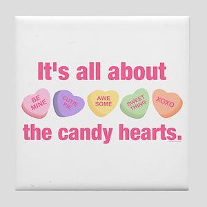 Candy Hearts II Tile Coaster