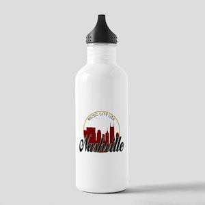 Nashville TN Music Cit Stainless Water Bottle 1.0L