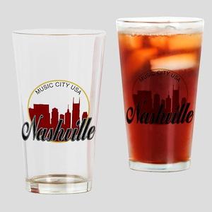 Nashville TN Music City - RD Drinking Glass