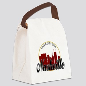 Nashville TN Music City - RD Canvas Lunch Bag