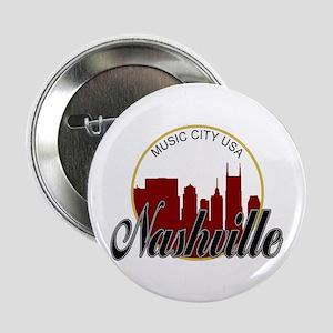 "Nashville TN Music City - RD 2.25"" Button"