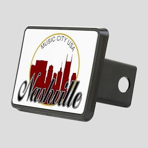 Nashville TN Music City - Rectangular Hitch Cover