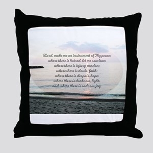 Prayer of St. Franics Throw Pillow