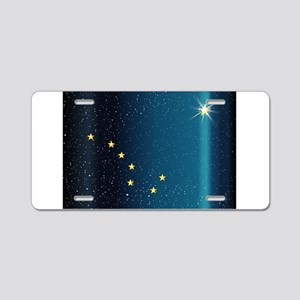 Flag of Alaska Abstract Aluminum License Plate