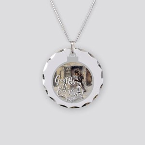 God Bless Us Every One! Necklace Circle Charm