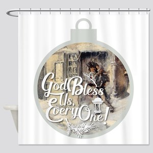 God Bless Us Every One! Shower Curtain