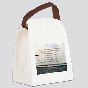 Prayer of St. Franics Canvas Lunch Bag
