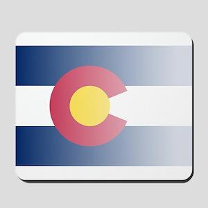 Colorado State Flag Fade Background Mousepad