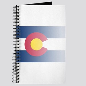 Colorado State Flag Fade Background Journal