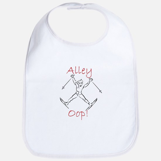 SKIER - Alley Oop - Action Sketch Baby Bib