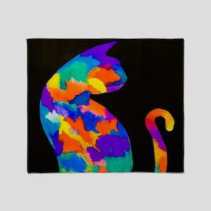 Rainbow Cat Throw Blanket