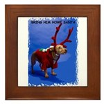 bring him home santa Framed Tile