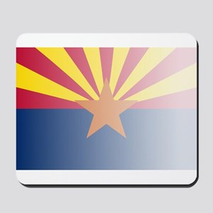 Arizona State Flag Fade Background Mousepad