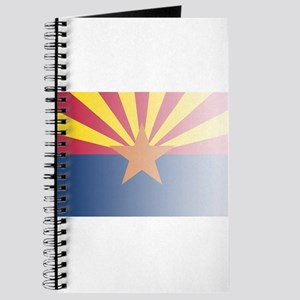 Arizona State Flag Fade Background Journal