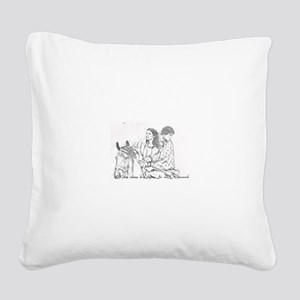 Jamie & Claire Forever Sk Square Canvas Pillow