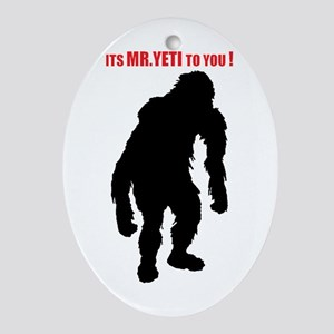 Mr. Yeti Oval Ornament