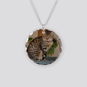 egyptian mau sitting 2 Necklace