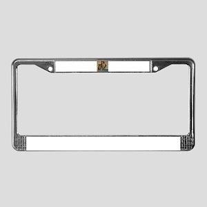 egyptian mau sitting 2 License Plate Frame
