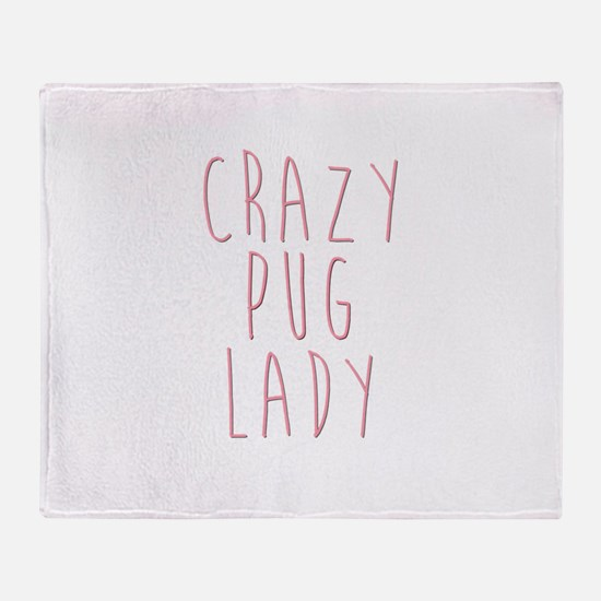 Unique Pugs not drugs Throw Blanket